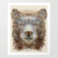Art Print featuring Grizzly Bear by Bri.buckley