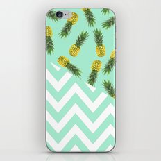 blue pineapple chevron iPhone & iPod Skin