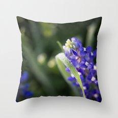 Blue Morning Dew Throw Pillow