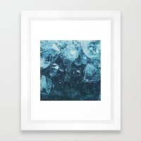 Aquamarine Gem Dreams Framed Art Print