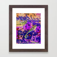 Turntables and a Mic (original sold) Framed Art Print