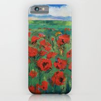 Field Of Red Poppies iPhone 6 Slim Case