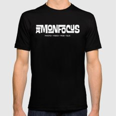 Amon Focus Black Mens Fitted Tee SMALL