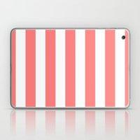 Coral White Stripes Laptop & iPad Skin