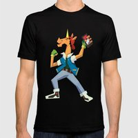 Ready Set Go Mens Fitted Tee Black SMALL