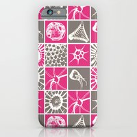 Microscopic Life Sillouetts Pink and Gray iPhone 6 Slim Case