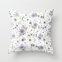Violetas Throw Pillow