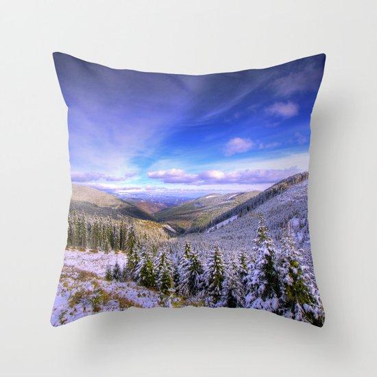 Winter Lands II Throw Pillow