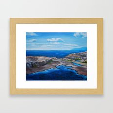 Tee Harbour  Framed Art Print