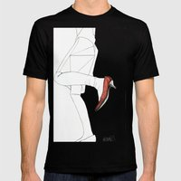 Red Shoe Mens Fitted Tee Black SMALL