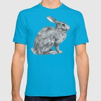 Eastern Cottontail Mens Fitted Tee Teal SMALL