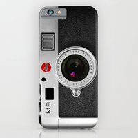 iPhone Cases featuring classic retro Black silver Leather vintage camera iPhone 4 4s 5 5c, ipod, ipad case by Three Second