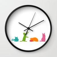 Cats Multicolor Wall Clock