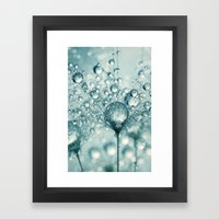 Droplets & Sparkles Framed Art Print
