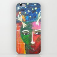 She Lives in a Time of Her Own iPhone & iPod Skin