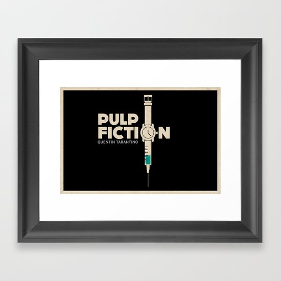 Pulp Fiction Framed Art Print By Jacob Wise Society6