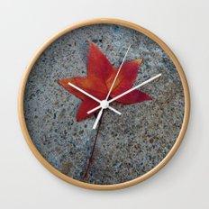 One Leaf Wall Clock