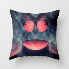 Beautiful Symmetry Butterfly Throw Pillow