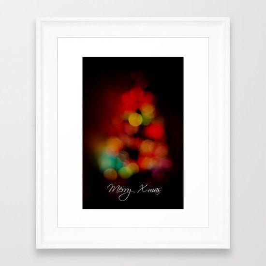 Merry X-mas Framed Art Print
