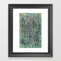 Snow Pines(Light Green) Framed Art Print