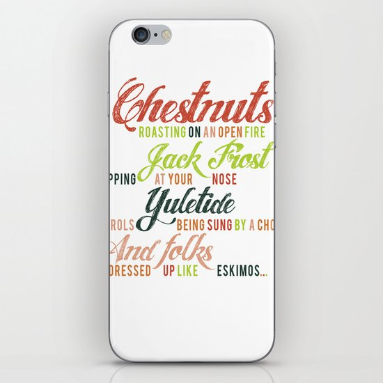 Christmas Song iPhone & iPod Skin