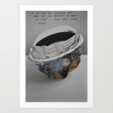 I Put On My Thinking Cap Art Print