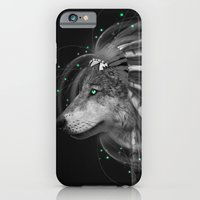 iPhone Cases featuring Don't Define the World (Chief of Dreams: Wolf) Tribe Series by soaring anchor designs