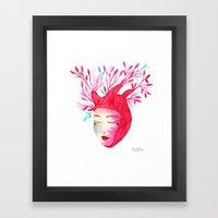 Miss Heart Framed Art Print