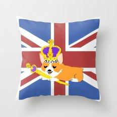 Crown Corgi Throw Pillow