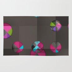 optical illusion black Rug