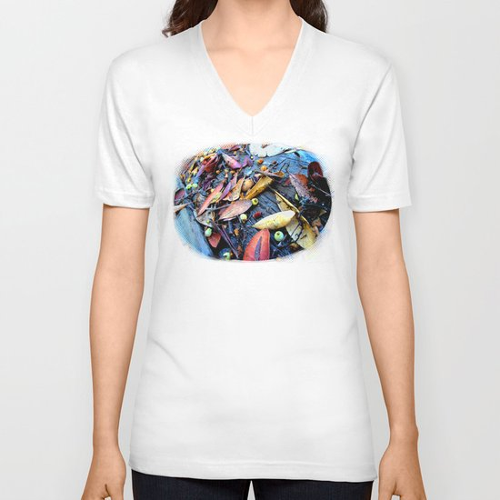 Leaves of a Strawberry Tree V-neck T-shirt