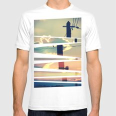 Sunrise SMALL White Mens Fitted Tee