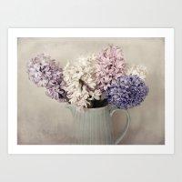 Hyacinths (2) Art Print
