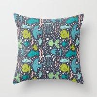 Fishy Fishy Throw Pillow