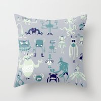 Monsters! Throw Pillow