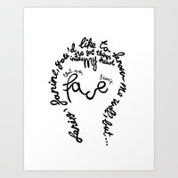 David Bowie - Janine Art Print
