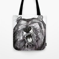 Tote Bag featuring Snarl to Feel Good by Tom Ryan's Studio