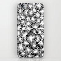 White Pinwheels iPhone & iPod Skin