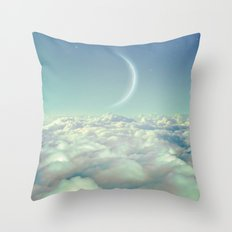 Dream Above The Clouds (Crescent Moon) Throw Pillow