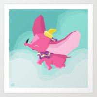 The Flying Elephant Art Print