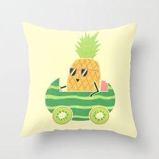 Summer Drive Throw Pillow