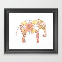 Orange Dreamsicle Elepha… Framed Art Print