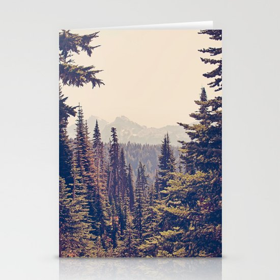 Mountains through the Trees Stationery Card