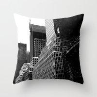 NY Cityscape Throw Pillow