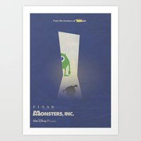 Monsters Inc. Walt Disney Alternative Movie Poster Art Print