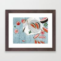 The Watermelon Season Framed Art Print