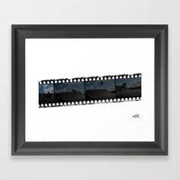 Bmx Negative Reel Framed Art Print