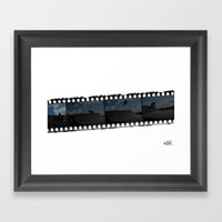 Bmx Negative Reel Framed Art Print