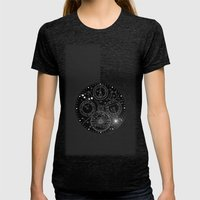 TIME Womens Fitted Tee Tri-Black SMALL