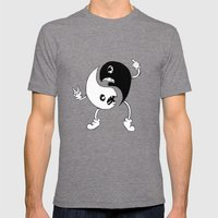 Yin-Yang Mens Fitted Tee Tri-Grey SMALL